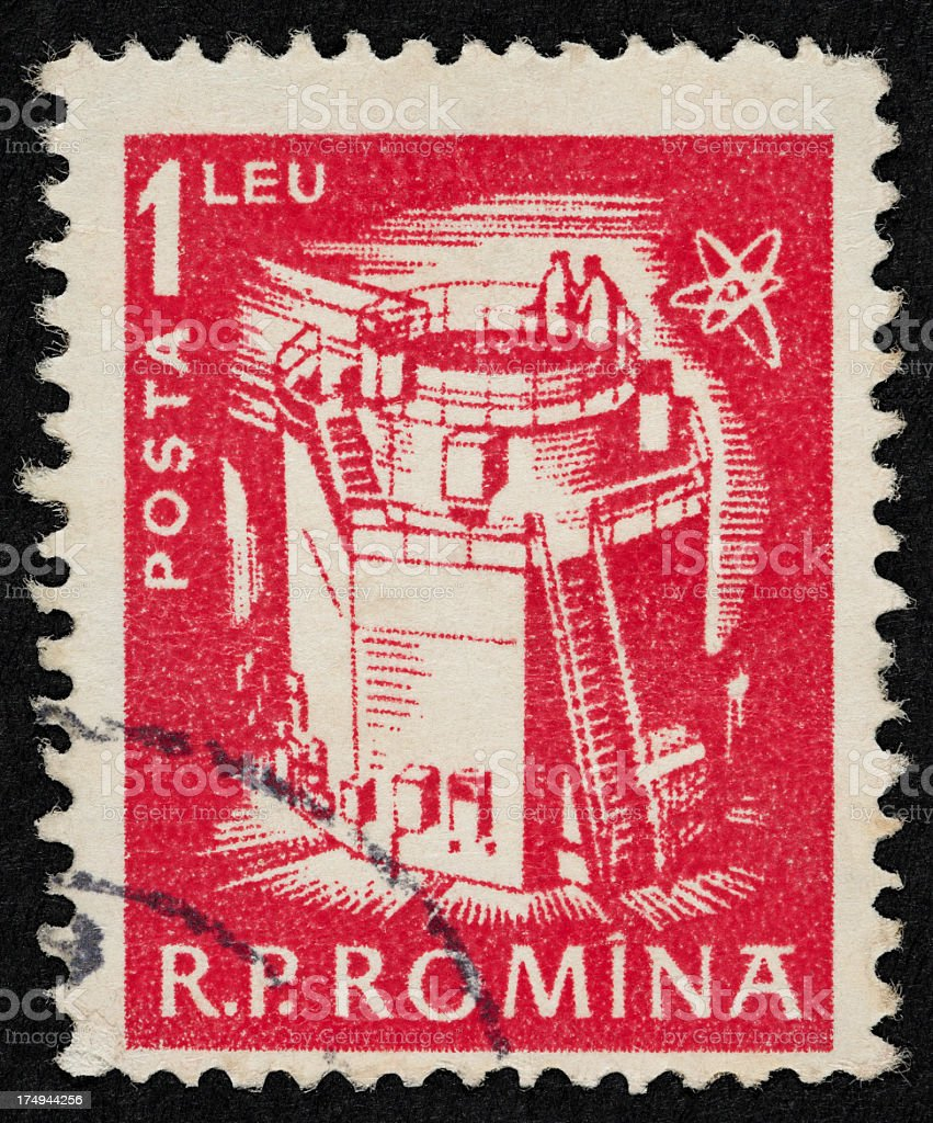 Romanian postage stamp royalty-free stock photo