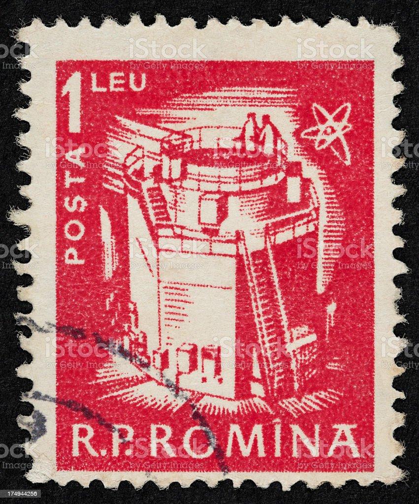 Romanian postage stamp stock photo