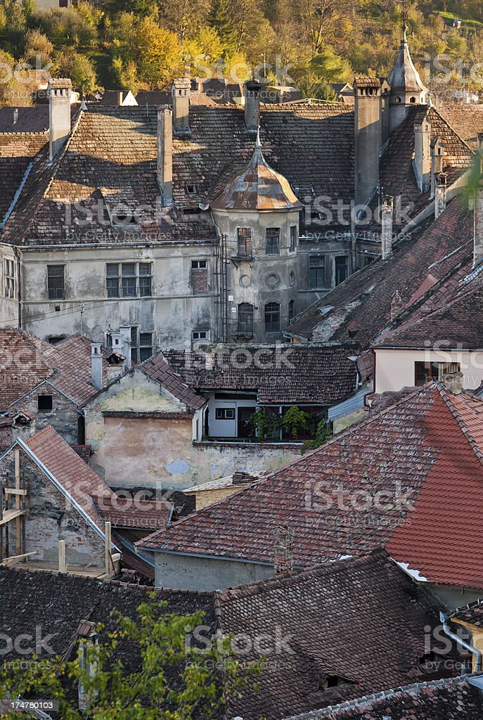 Romanian Rooftops stock photo