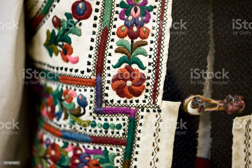Romanian Traditional Embroidery royalty-free stock photo