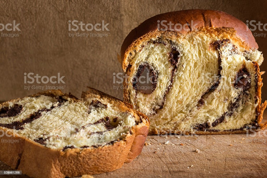 Romanian traditional sponge cake - Cozonac stock photo