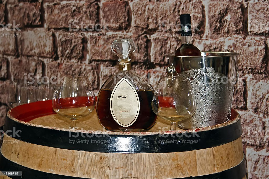 Romanian wines and brandy royalty-free stock photo