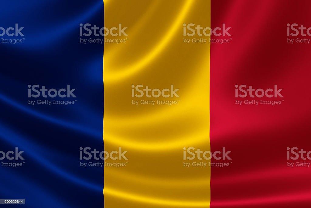Romania's National Flag stock photo