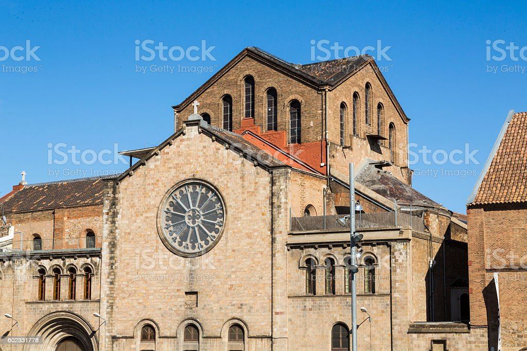 romanic church in Barcelona, Spain stock photo