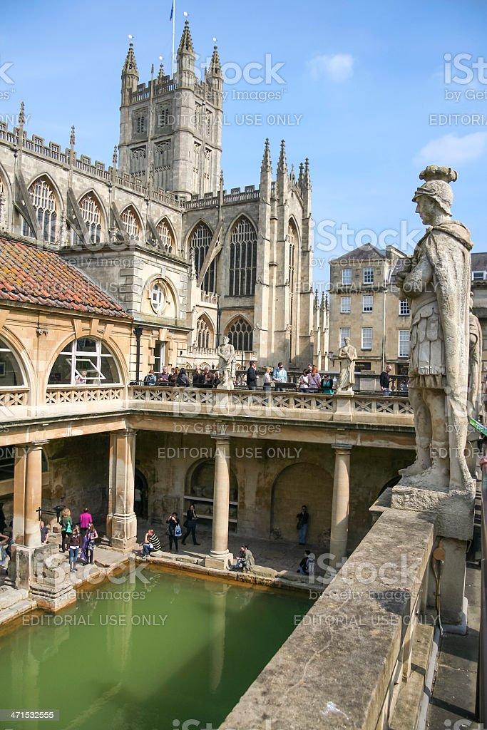 Romans Baths and Abbey Historic Bath UK royalty-free stock photo