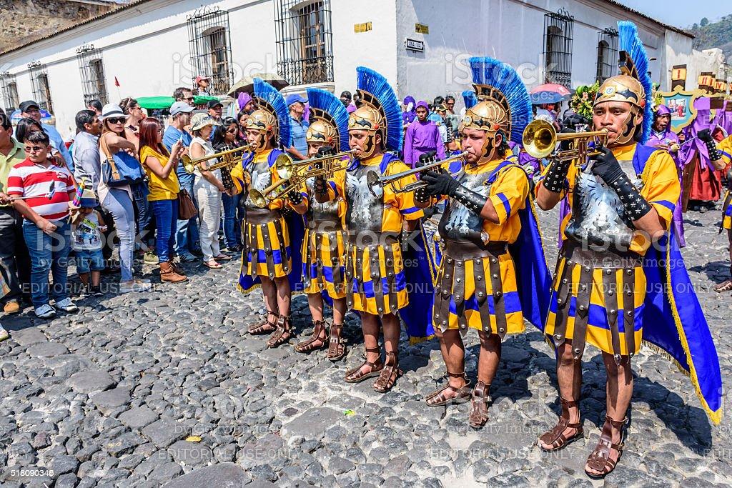 Romans on Holy Thursday, Antigua, Guatemala stock photo