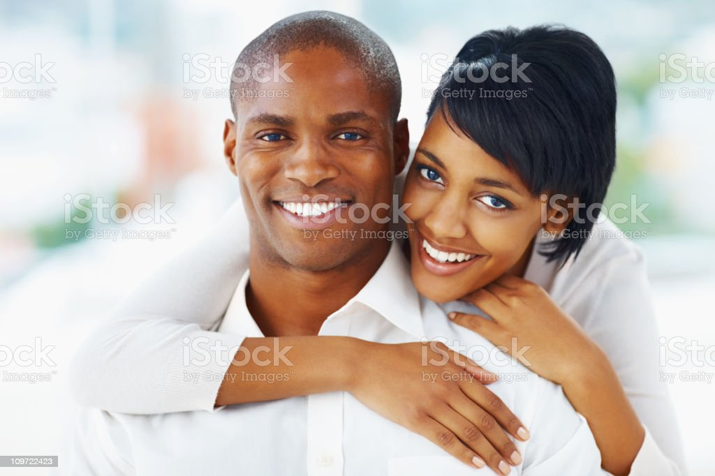 Romantic African American couple spending time together royalty-free stock photo