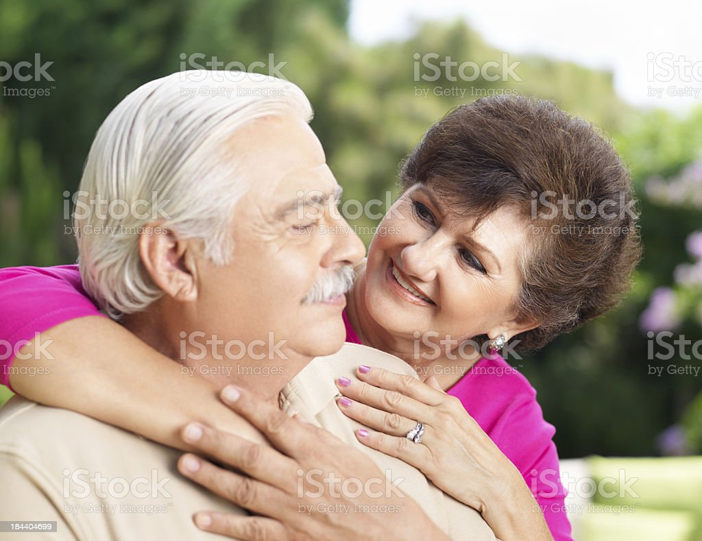 Romantic and loving couple royalty-free stock photo