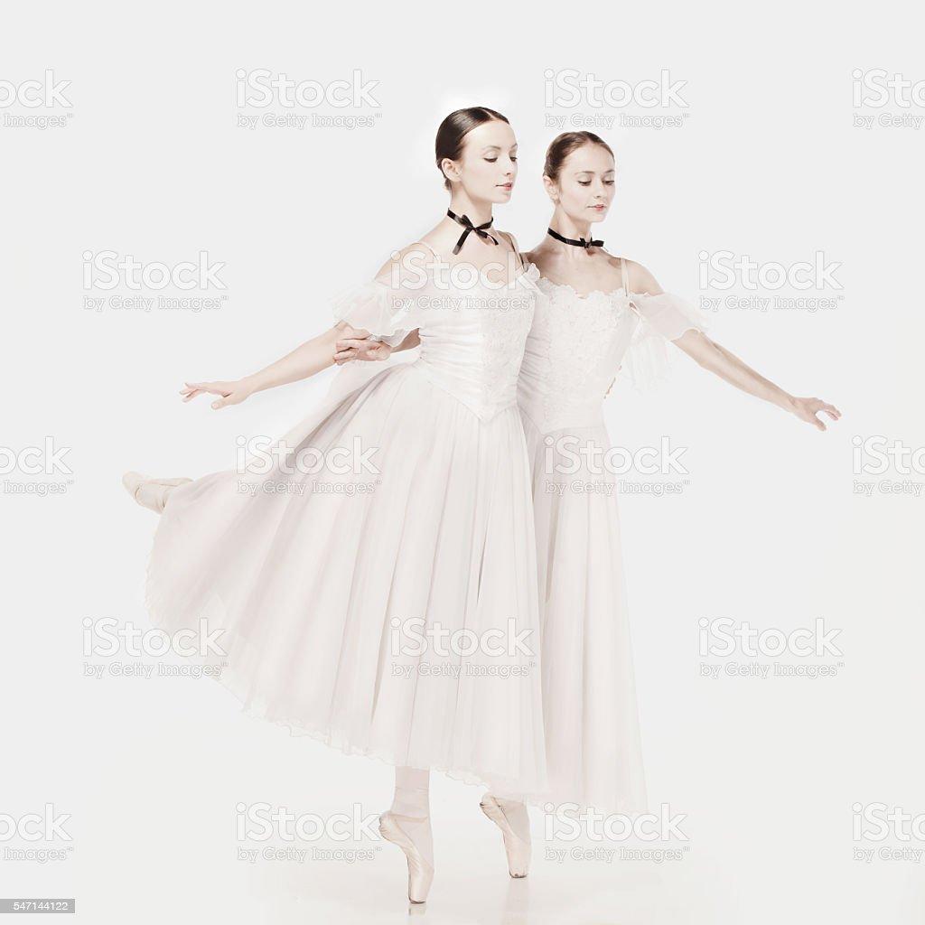 Romantic Beauty. Retro Style ballerinas stock photo