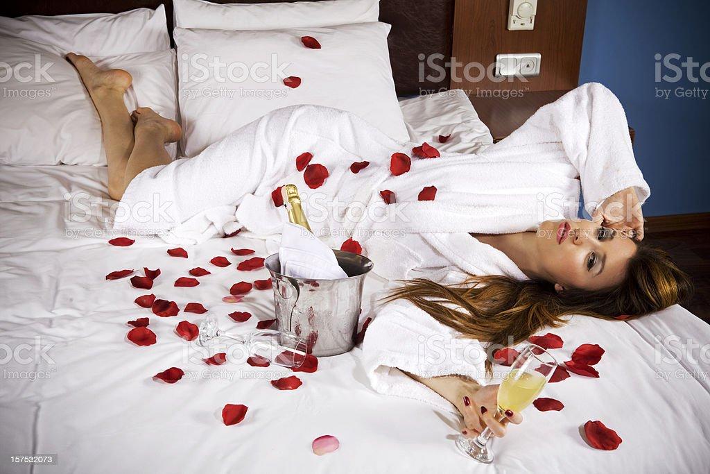 Romantic Bed Simple Romantic Bed Stock Photo 157532073  Istock 2017