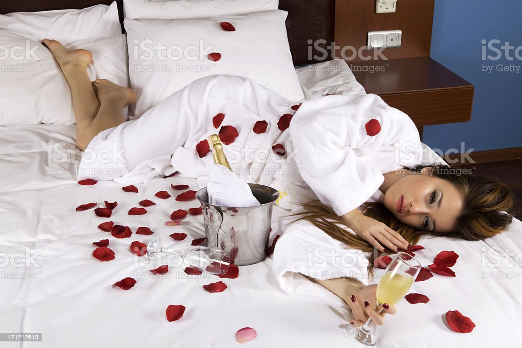 Romantic Bed royalty-free stock photo