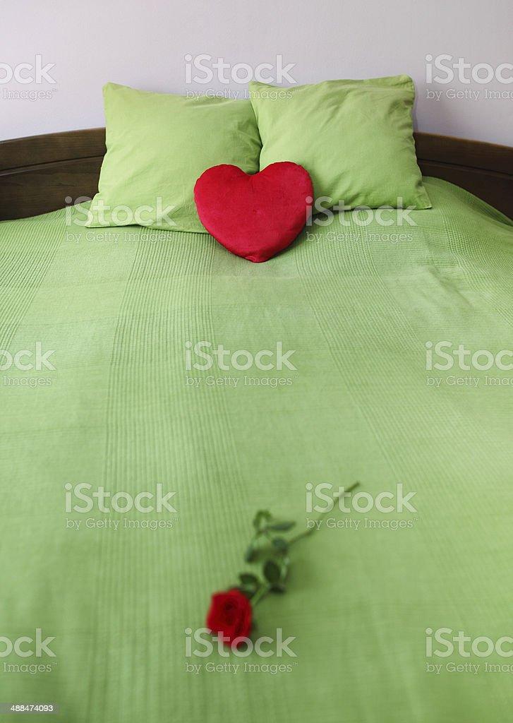 Romantic bed royalty-free stock photo