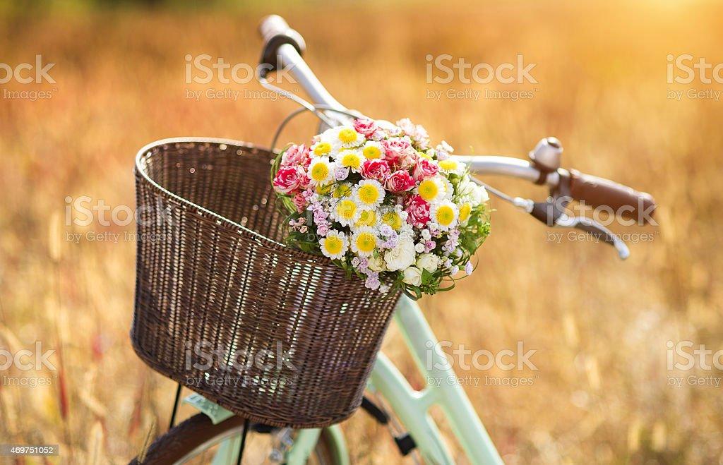 Romantic bike stock photo