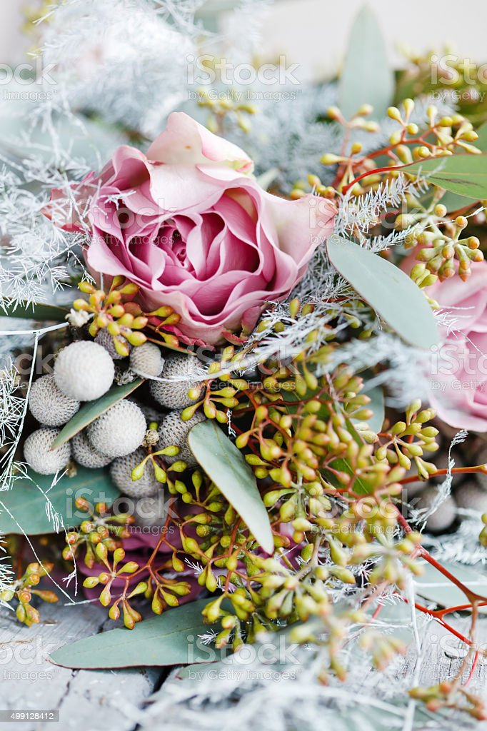 romantic bouquet stock photo