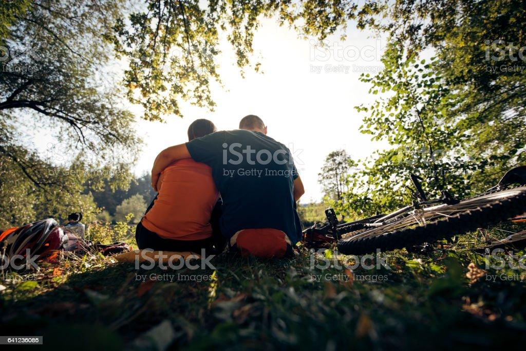 Romantic break stock photo