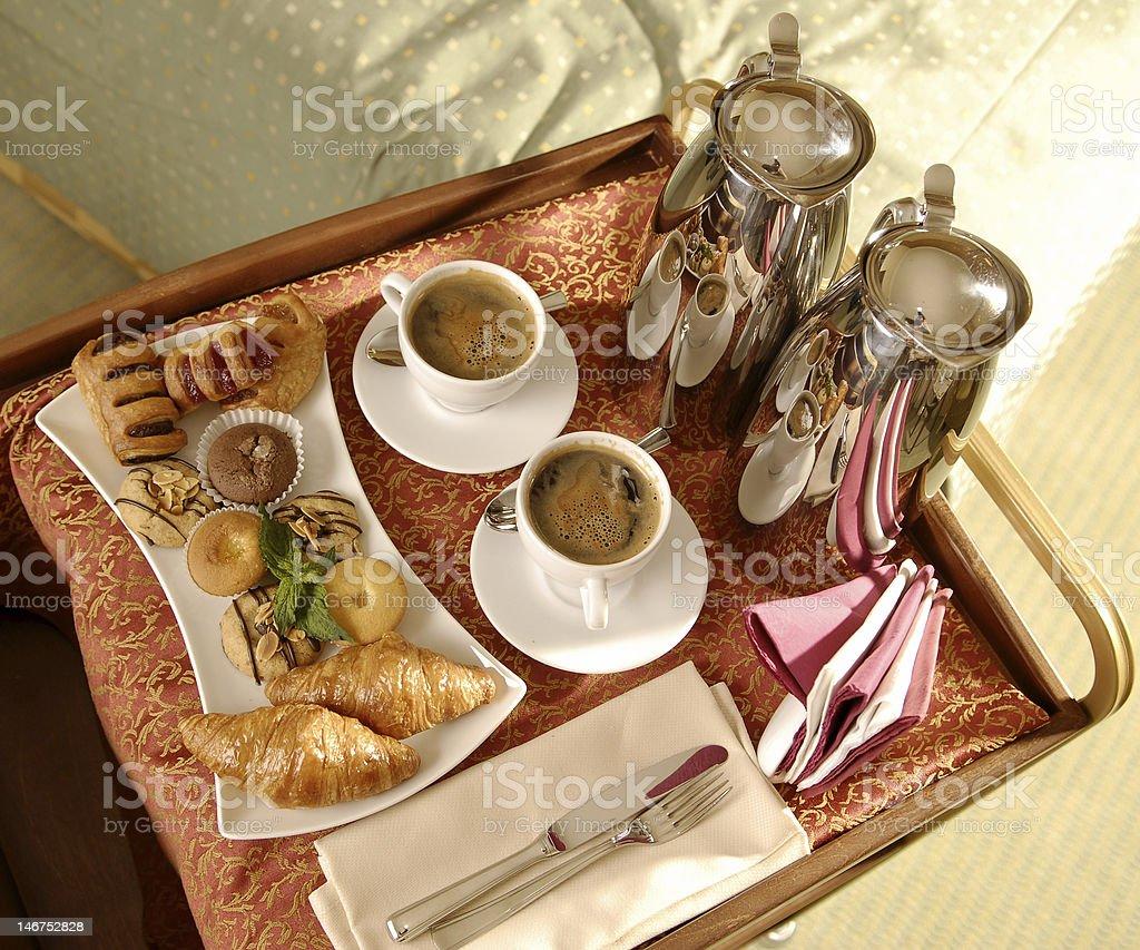 Romantic breakfast royalty-free stock photo
