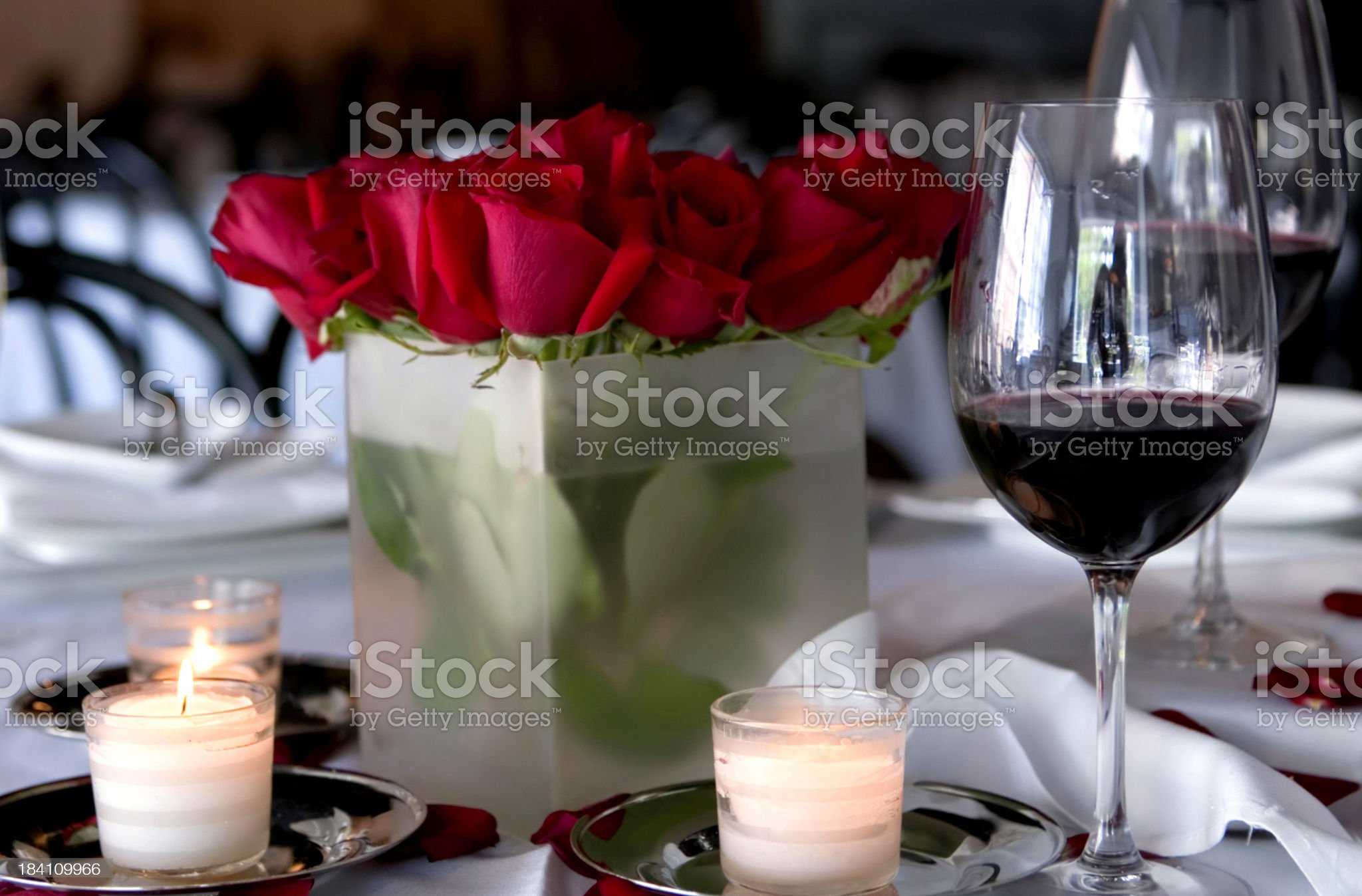 Romantic Candlelight Dinner II royalty-free stock photo
