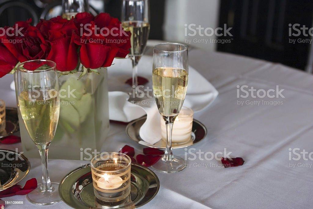 Romantic Candlelight Dinner III royalty-free stock photo