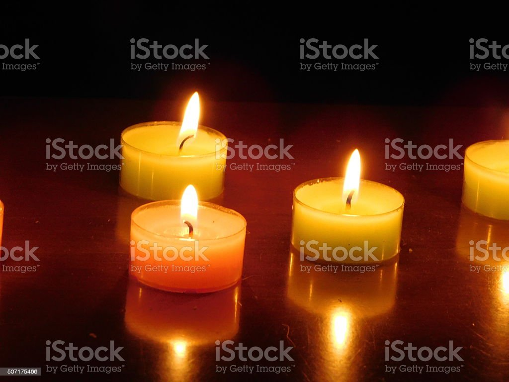 Romantic candles royalty-free stock photo