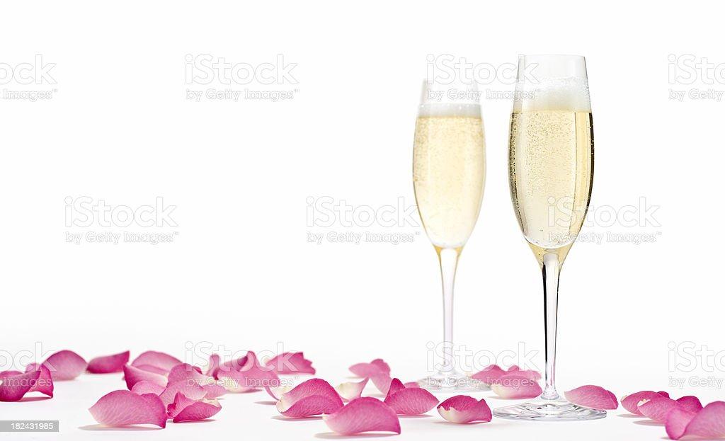 Romantic Champagne Horizontal royalty-free stock photo