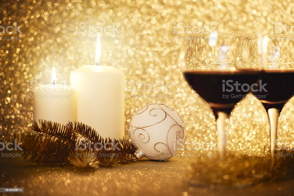 Romantic Christmas Decorations royalty-free stock photo