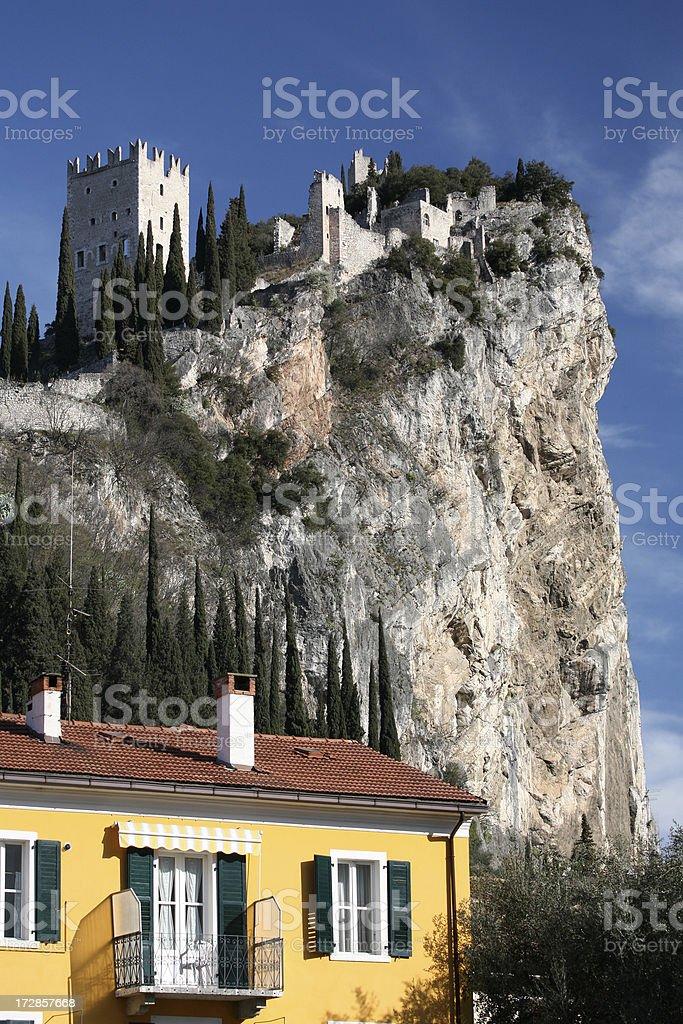 Romantic climbing rock stock photo