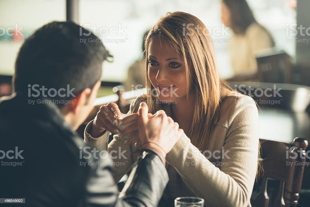 Romantic coffee break stock photo