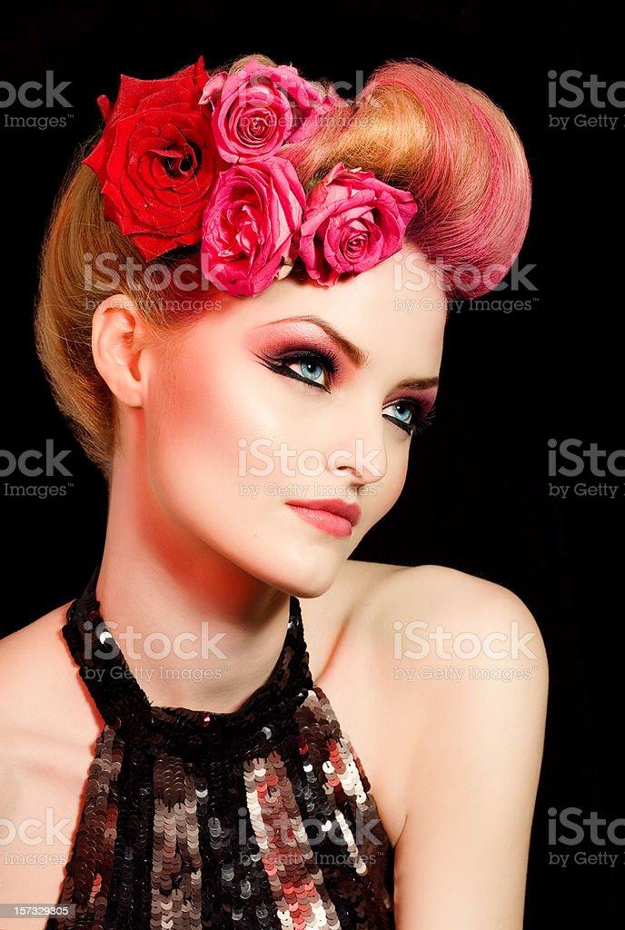Romantic Coiffure royalty-free stock photo