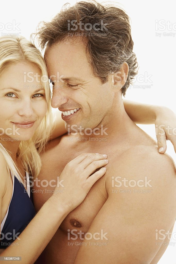 Romantic couple embracing each other royalty-free stock photo