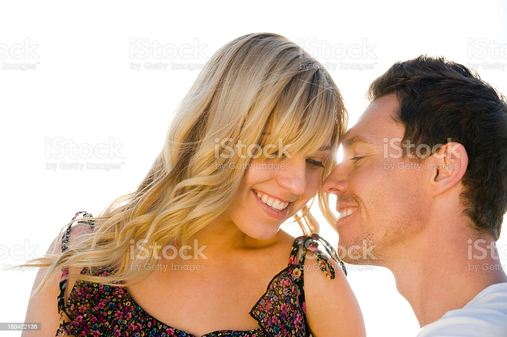 Romantic couple embracing royalty-free stock photo