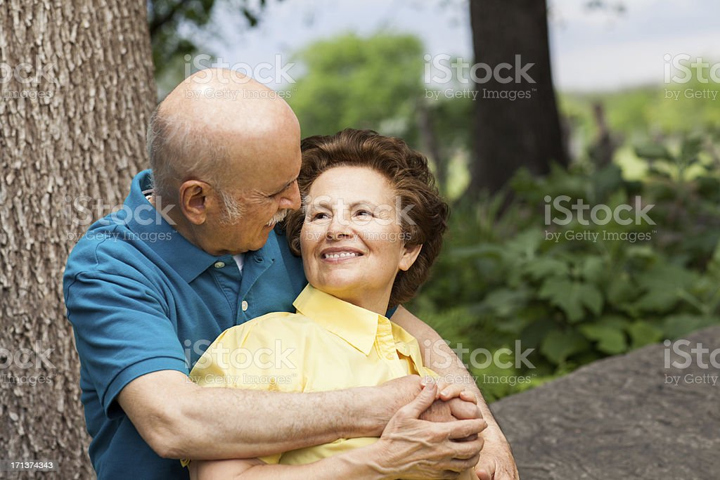 Romantic couple looking at each other royalty-free stock photo