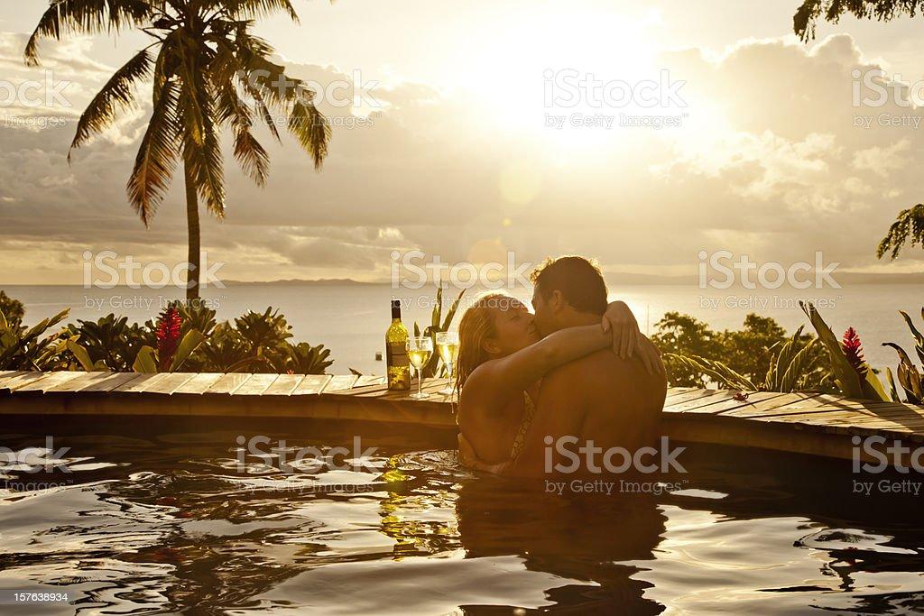 Romantic Couple on Vacation stock photo