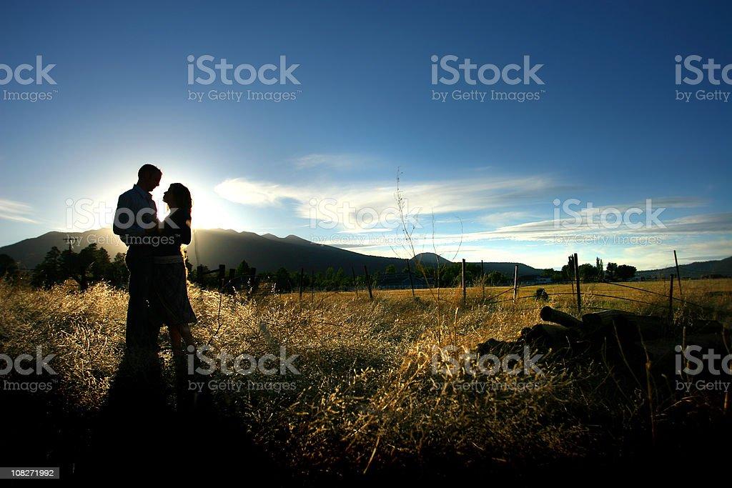 Romantic Couple Silouette royalty-free stock photo