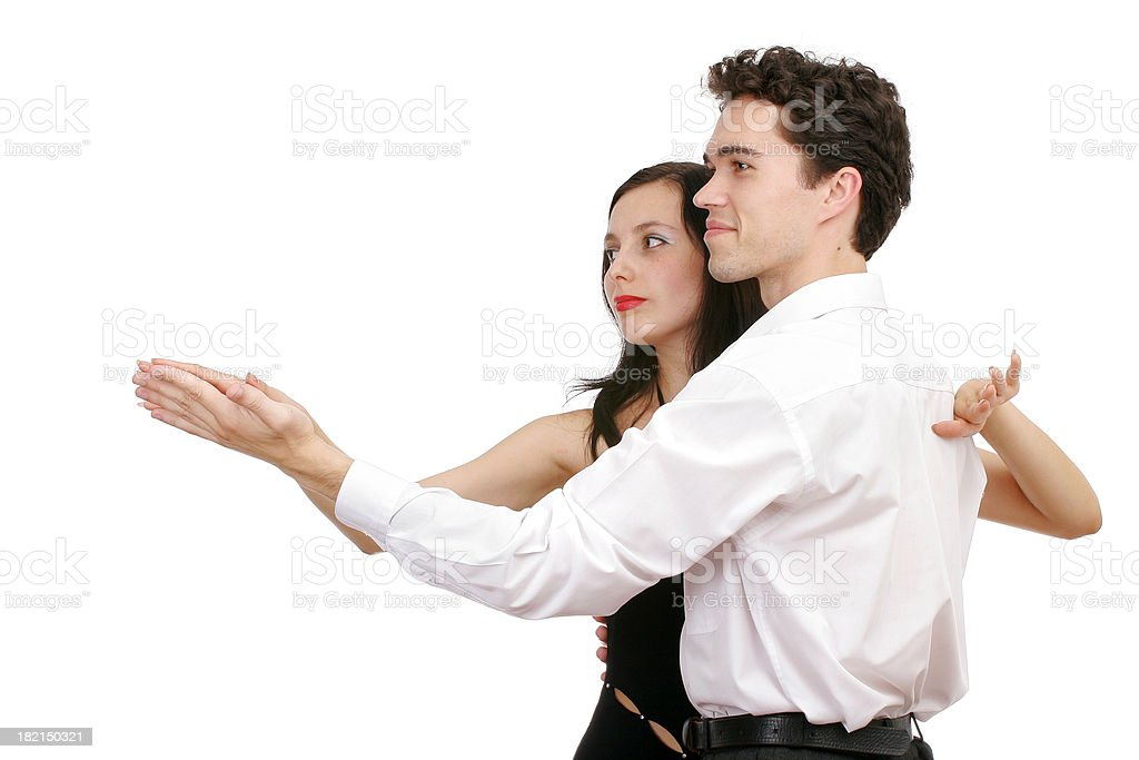 Romantic dance royalty-free stock photo
