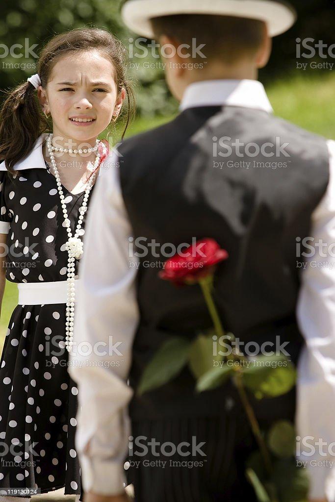 Romantic date royalty-free stock photo
