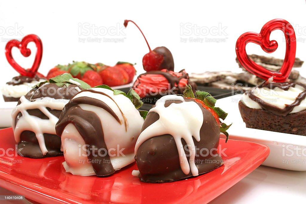 romantic desserts royalty-free stock photo