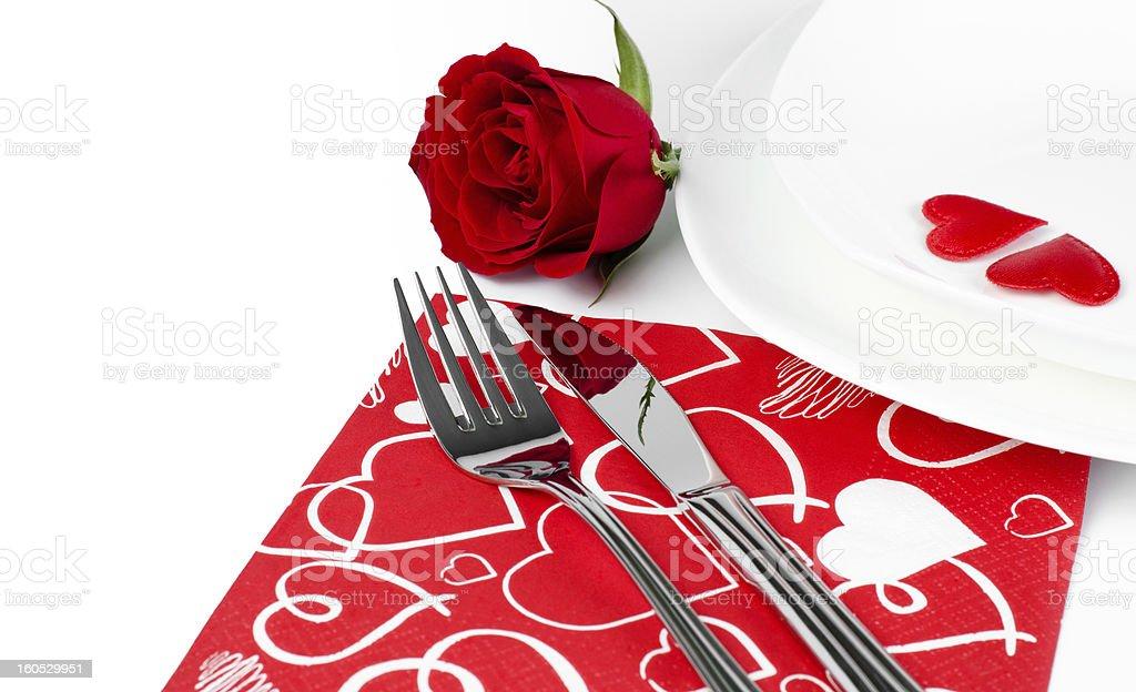 romantic diner royalty-free stock photo
