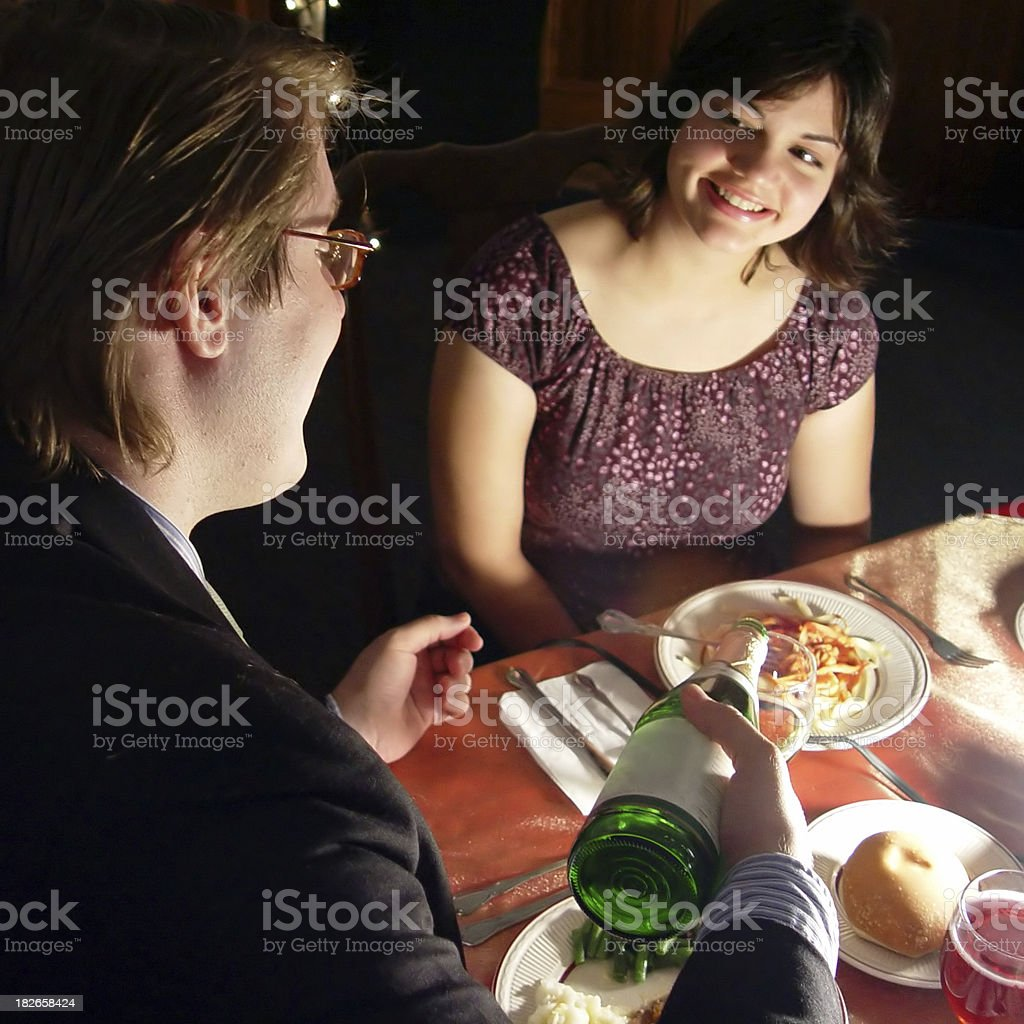 Romantic Diner royalty-free stock photo