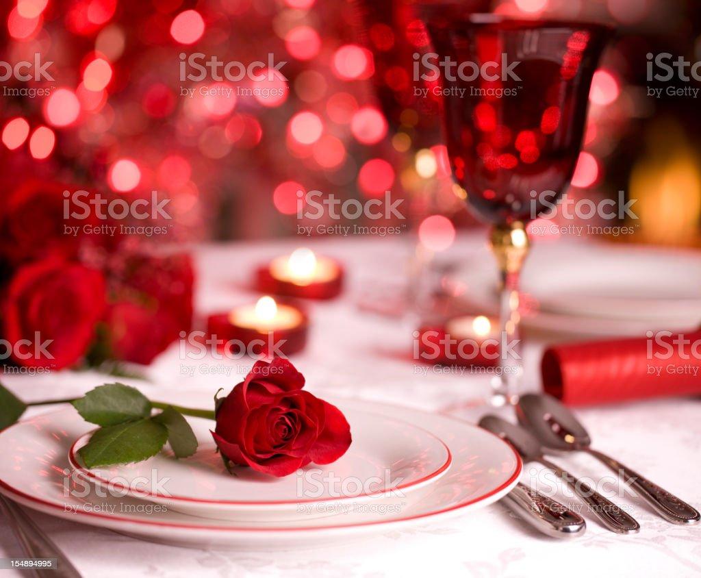 Romantic Dining royalty-free stock photo