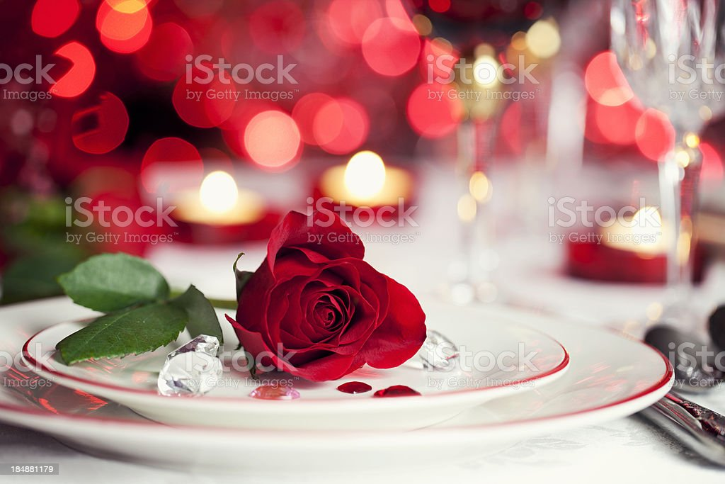 Romantic Dining stock photo
