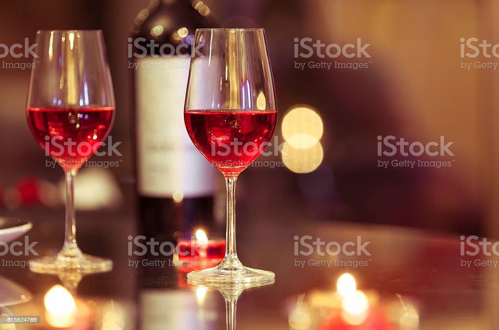 Romantic dining stock photo