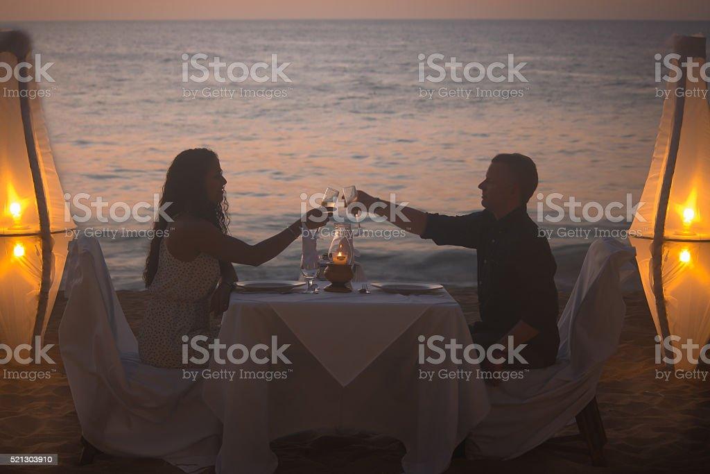 Romantic Dinner - Caribbean Style stock photo