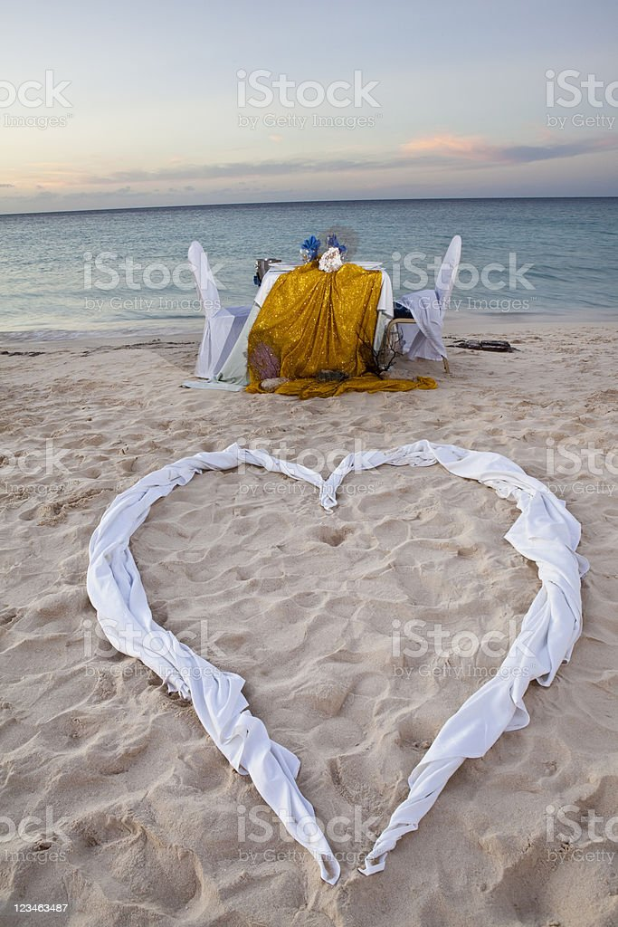 Romantic Dinner for Two at the Beach royalty-free stock photo