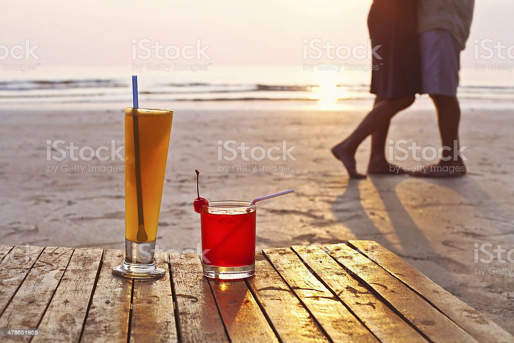 romantic dinner for two stock photo