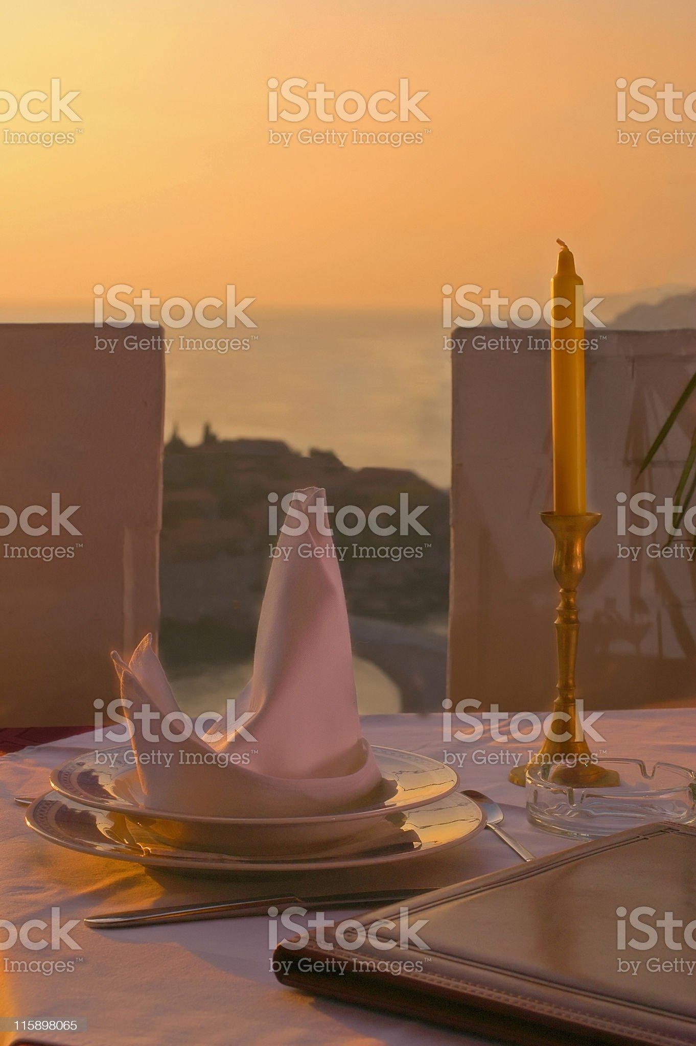 Romantic Dinner royalty-free stock photo