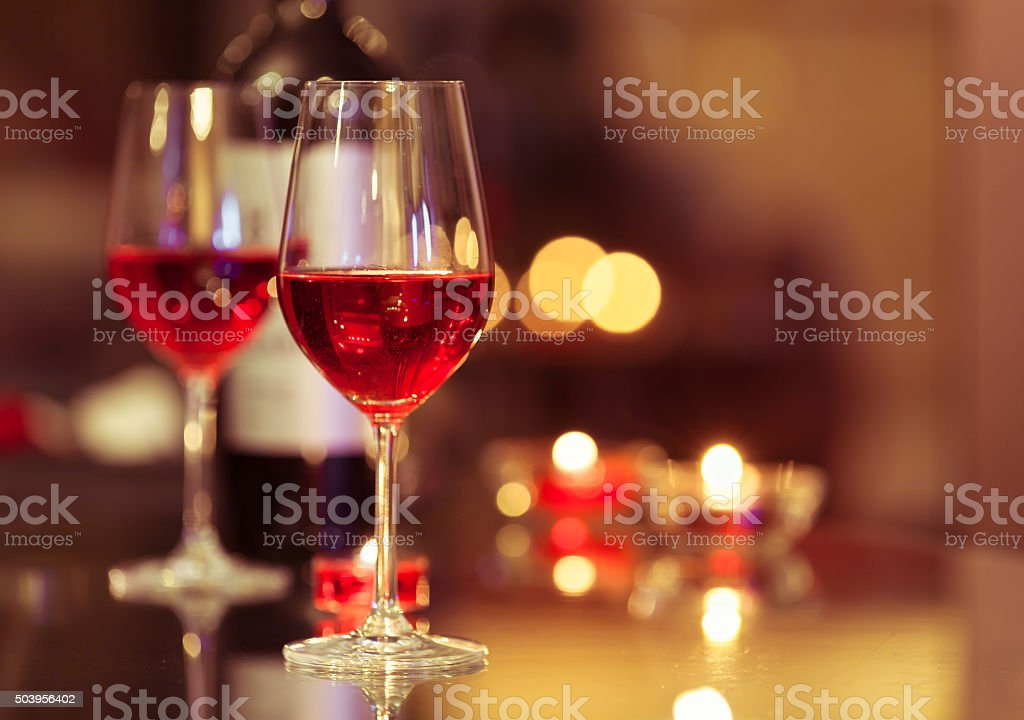 Romantic dinner stock photo