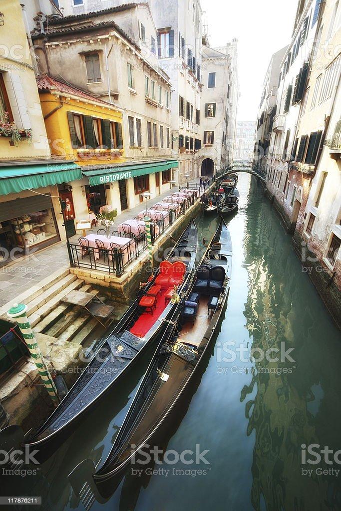romantic dinner Venice royalty-free stock photo