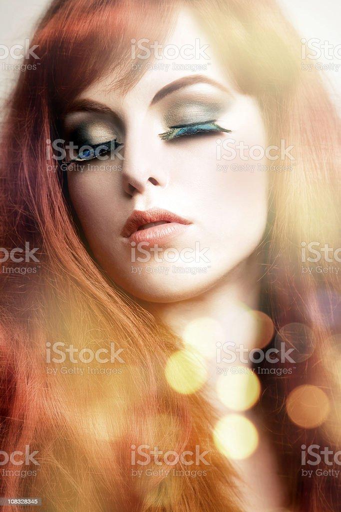Romantic fall beauty royalty-free stock photo