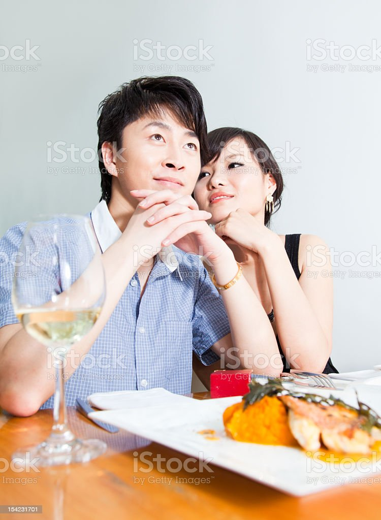 Romantic Fine Dining royalty-free stock photo
