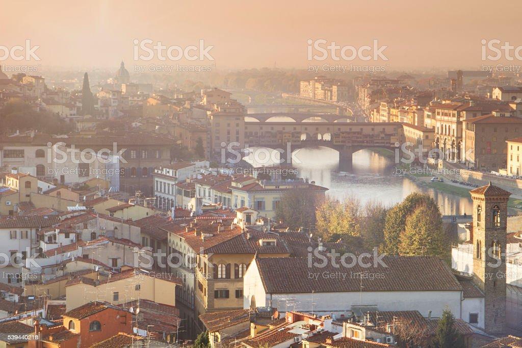 Romantic Florence stock photo